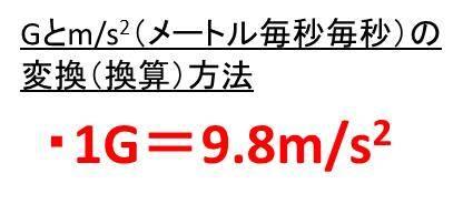 m/s2(メートル毎秒毎秒)とGの...